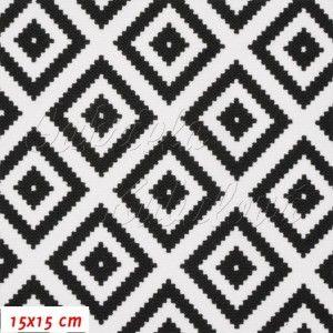 Kočárkovina, Pepito černobílé, MAT, šíře 160 cm, 10 cm