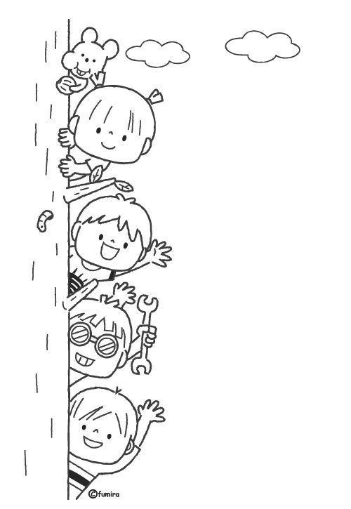 Gratis Kleurplaten A3.Hello Children Illustration Coloring Children Coloring Hello