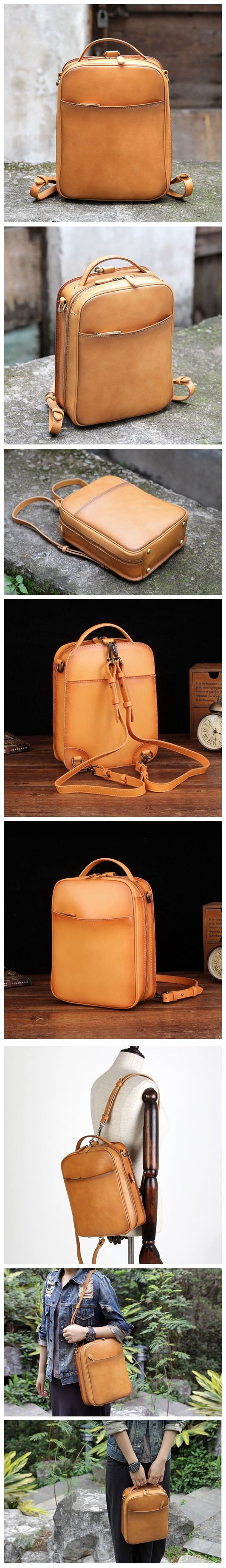 Genuine leather backpack rucksack shoulder bag messenger women's handbag 14085