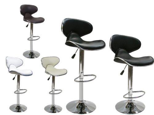 Set of 2 Bar Stools Leather Modern Hydraulic Swivel Dinning Chair Barstools | eBay
