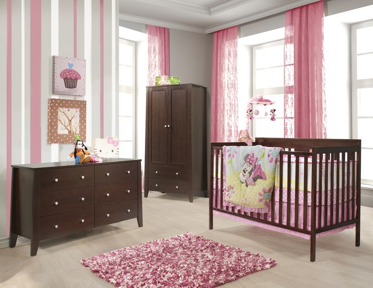 Our Calvin Collection bed is made of solid wood and non-toxic dye safe for baby. The design is very simple, but as we all know .. Less is more !! See it for yourself in any of our stores! Available pieces: - 4-in-1 Convertible crib Calvin - Double dresser - 3 Drawers Dresser - Door chest