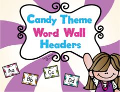 Candy Themed Word Wall Header Giveaway! - Enter to win the latest in the Candy Theme collection from Lovin' Kinder!.  A GIVEAWAY promotion for Candy Themed Word Wall Headers from Lovin' Kinder on TeachersNotebook.com (ends on 7-31-2015)