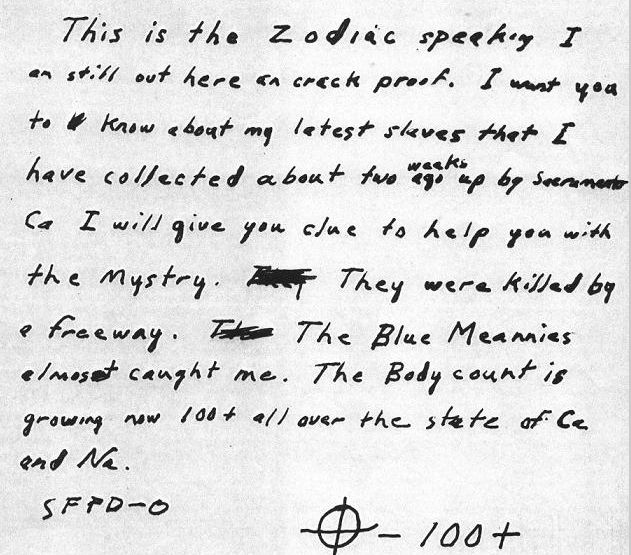 The Zodiac Killer Letter