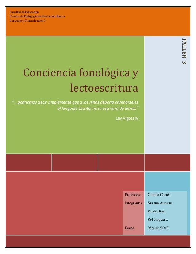 Facultad de Educación Carrera de Pedagogía en Educación Básica Lenguaje y Comunicación I TALLER ...