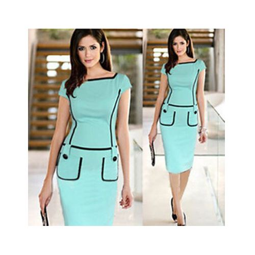 Find More Dresses Information about 2014 summer dresses saia de festa womens dresses elegant  Solid spell of Slim pencil  dress,High Quality dress model for girl,China dress ankle boots for men Suppliers, Cheap dress school from Global Trade Direct Ltd. on Aliexpress.com