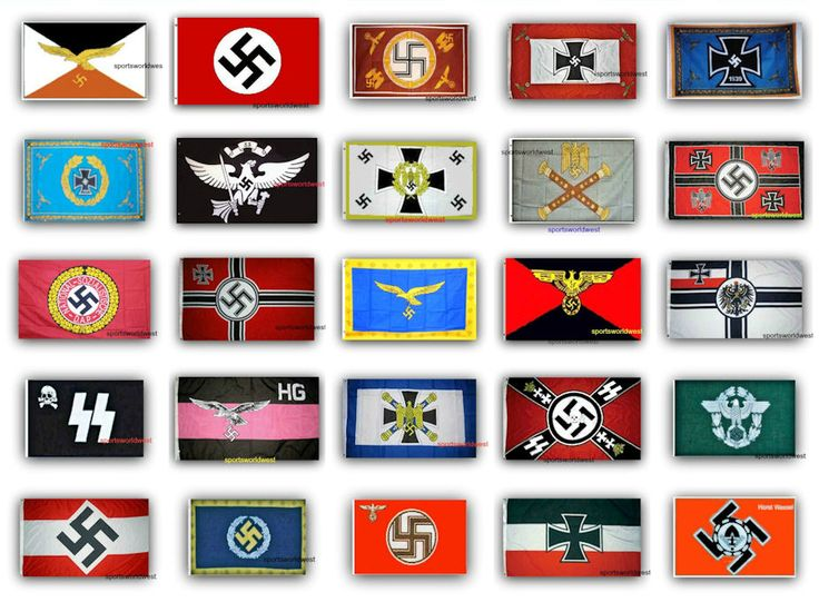 25 German Nazi Third Reich WWII Flags.. Free Delivery - All 25 - $112.00  •	 Flags are quality Polyester and Nylon with grommets.  •	 3 ft x 5 ft – With double stitching around edges. •	 Flag can be used inside or out.  •	 New - unused - in original factory packaging  •	 Ships within 72 hours or less with tracking. •	 Satisfaction guaranteed or your money back.   •	  •	Sportsworld watermark you see on flag images is not on any flag. Available at: Sportsworldwest.com