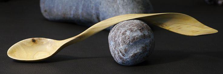 SEA WAVE - Elegant wooden spoon from Walnut wood by Bretislav Jansa
