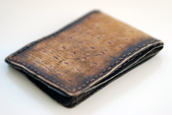 The Texas Toast - Mens Leather Wallet light brown rustic vintage bifold wallet - hand made on Etsy, $79.00