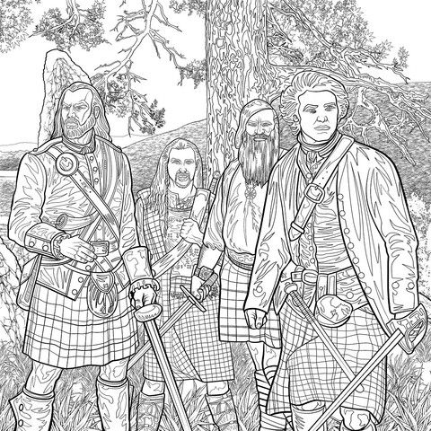 The Official Outlander Coloring Book. The perfect gift for fans of Diana Gabaldon's Outlander novels and the Starz original series, this spectacular coloring book features forty-five all-new illustrat