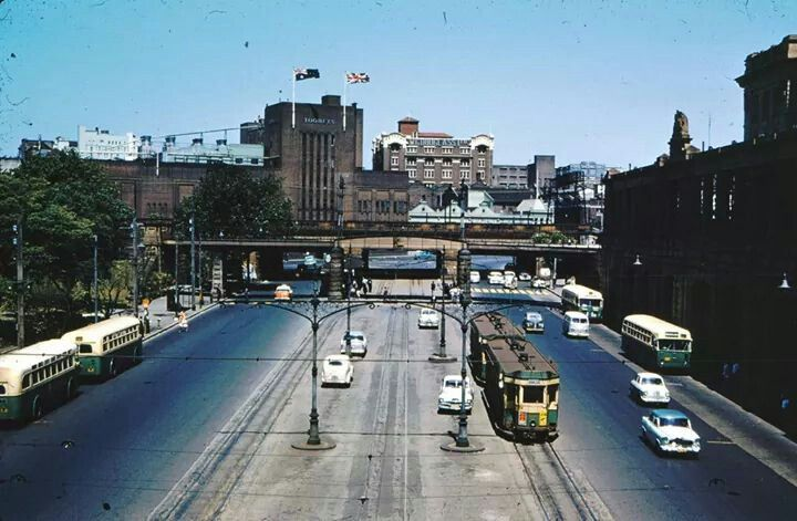 Eddy Avenue in 1956 with Toohey's Brewery in the background.Photo from Skyscraper City.A♥W
