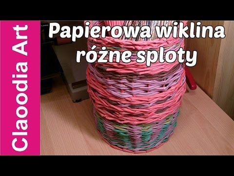 Papierowa wiklina, różne sploty (wicker paper, tutorial) - YouTube
