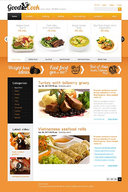 22 best food drink wordpress themes images on pinterest psd template for cooking website forumfinder Choice Image