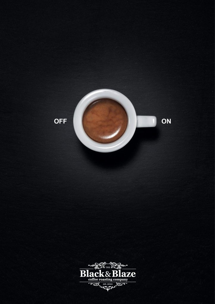 I like how this ad shows that once you have the coffee you will feel 'switched on' and ready to take on the day.