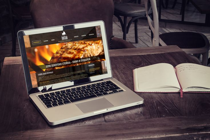 Сайт для стейк-хауса Buffalo (nice promo web site www advertising restaurant cafe design macbook air notebook ad)