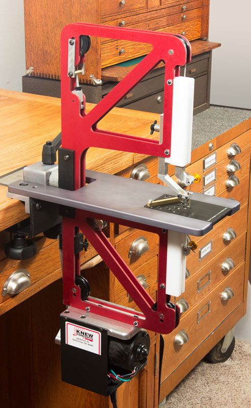 Knew Concepts Precision Power Saw - Fine Metalsmithing Saws Designed for Artisans - The Red Saw - Santa Cruz, CA