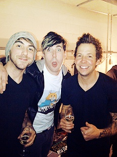 Lead singers...Alex Gaskarth (All Time Low), Josh Ramsay (Mariana's Trench), Pierre Bouvier (Simple Plan)