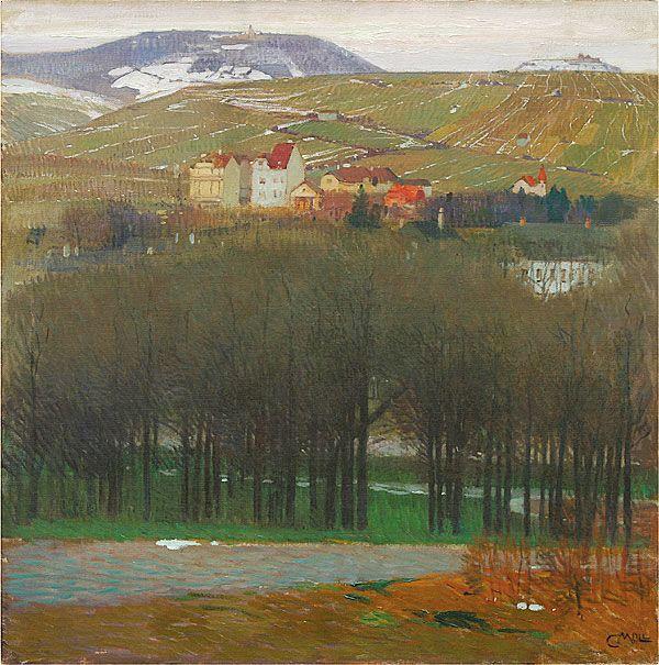 Carl Moll: BLICK VON DER HOHEN WARTE AUF DEN NUSSBERG, um 1904                                                                                                                                                                                 More