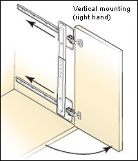 Fresh Vertical Sliding Cabinet Door Hardware