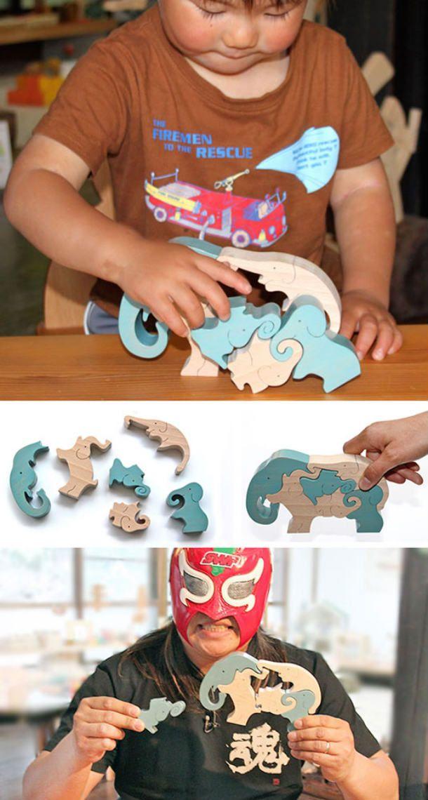 日本グッド・トイ委員会選定 木のおもちゃ パズル 型はめ。【名入れ可】●象のスタンディングパズル 木のおもちゃ 型はめ 積み木 パズル 知育玩具 3ヶ月 6ヶ月 0歳 1歳 2歳 3歳 4歳 5歳 6歳 7歳 ~出産祝い 誕生日ギフト 動物パズル 男の子 女の子 赤ちゃん おもちゃ 日本製 脳トレ 幼児 親子 木育 家族 出産内祝い