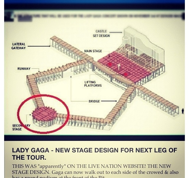 The stage for the born this way ball, so dreamy , lady gaga