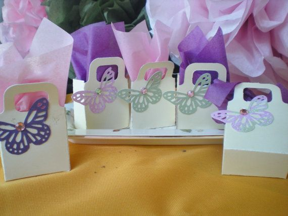 butterfly party favors 16 in set purple pink by DellaCartaDecor, $11.99