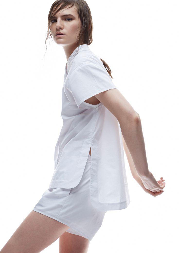 THIRD FORM SPRING 15 | CONCEALED SHIRT #thirdform #fashion #streetstyle #style #minimalism #trend #model #black&white