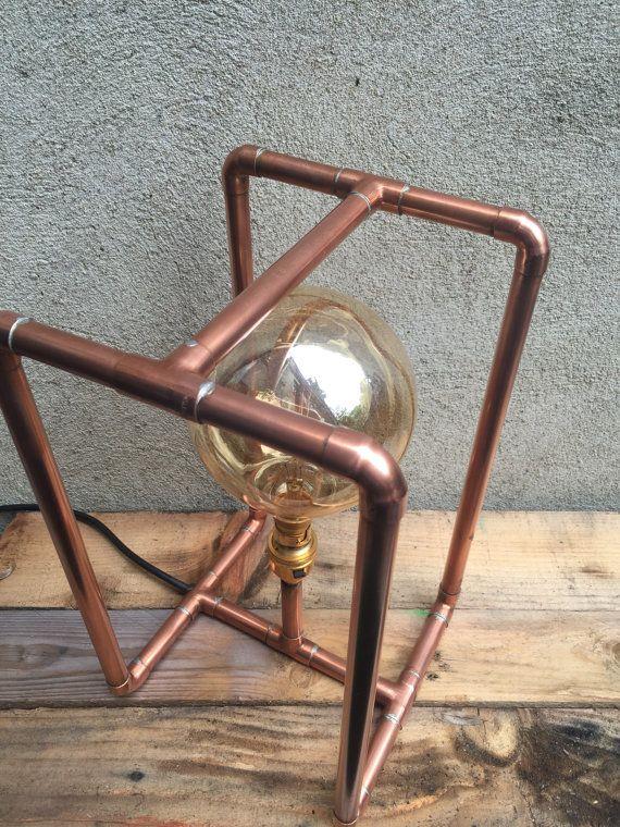 Lámpara de tubo de cobre por CopperLampCompany en Etsy                                                                                                                                                                                 Más