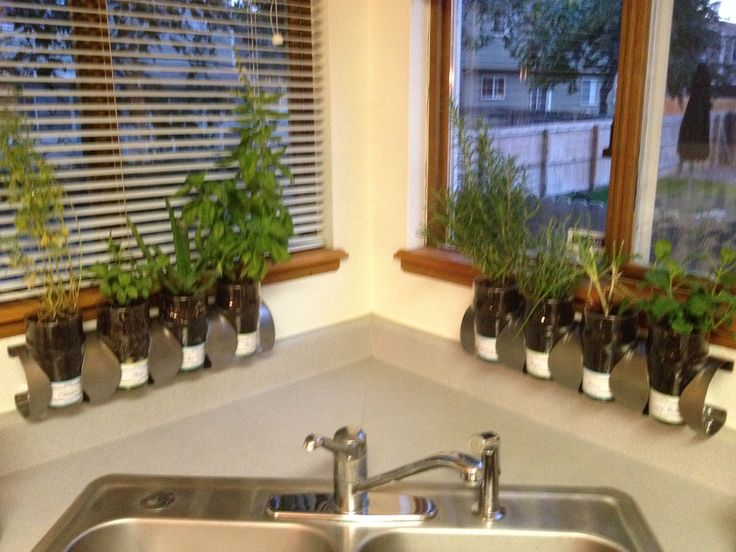 ikea hack kitchen herb garden gardening pinterest