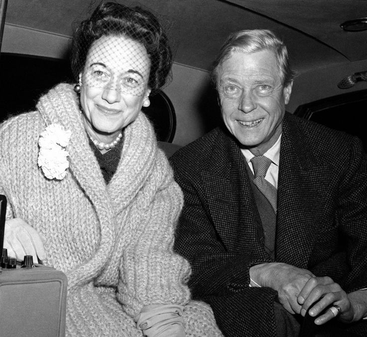 The Duke and Duchess of Windsor in an automobile outside Union Station after their arrival for a visit in Washington on February 13, 1959.