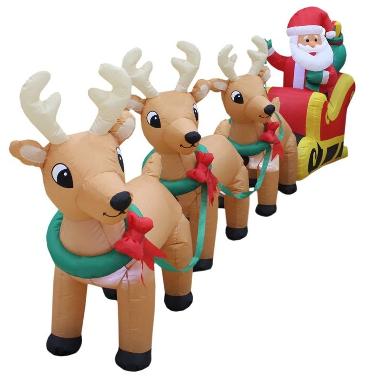Santa Claus On Sleigh 12 Ft Long Christmas Inflatable Yard Decoration 3 Reindeer #BZBGoods,=> Easy & pleasant transaction => Quick delivery => 100% Feedback => http://bit.ly/24_hours_open #Christmas,#tree,#decor,#Santa,#xmas,#decoration,#inflatable,#holiday,#party,#sandaclaus,#yard,#garden,#patio,#accessories