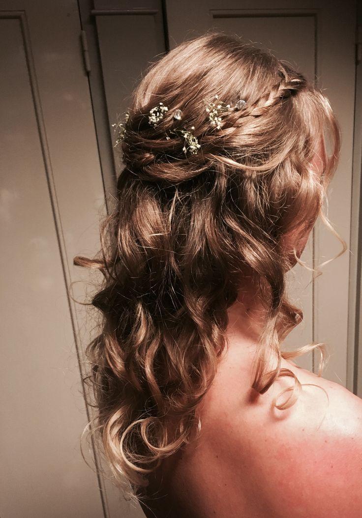 Romantisch Bruidskapsel met gipskruid