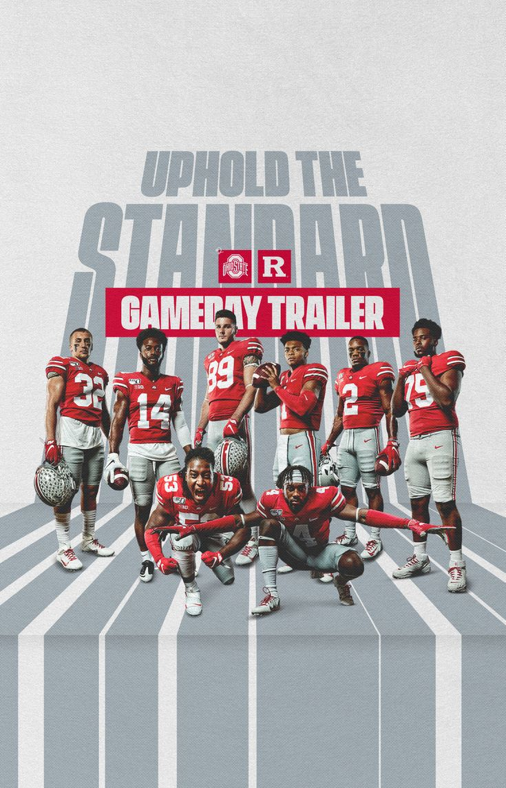 Ohio State Football Rutgers Gameday Poster On Behance In 2020 Ohio State Football Ohio State Poster Ohio State