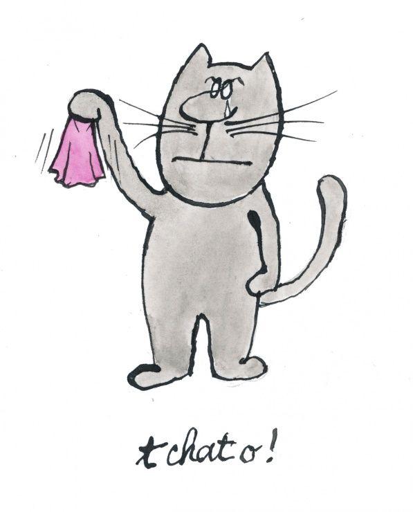 Siné  (2016-05-05) T chat o!   Siné, 1928 – 5 mai 2016 5 mai 2016 à 13 h 17 Dessin inédit, il aurait du terminer la réédition des Chats de Siné en 2012 (Cherche midi) © Siné.