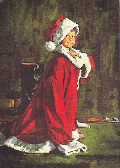 Iconic American illustrator, Norman Rockwell presents The future Santa...