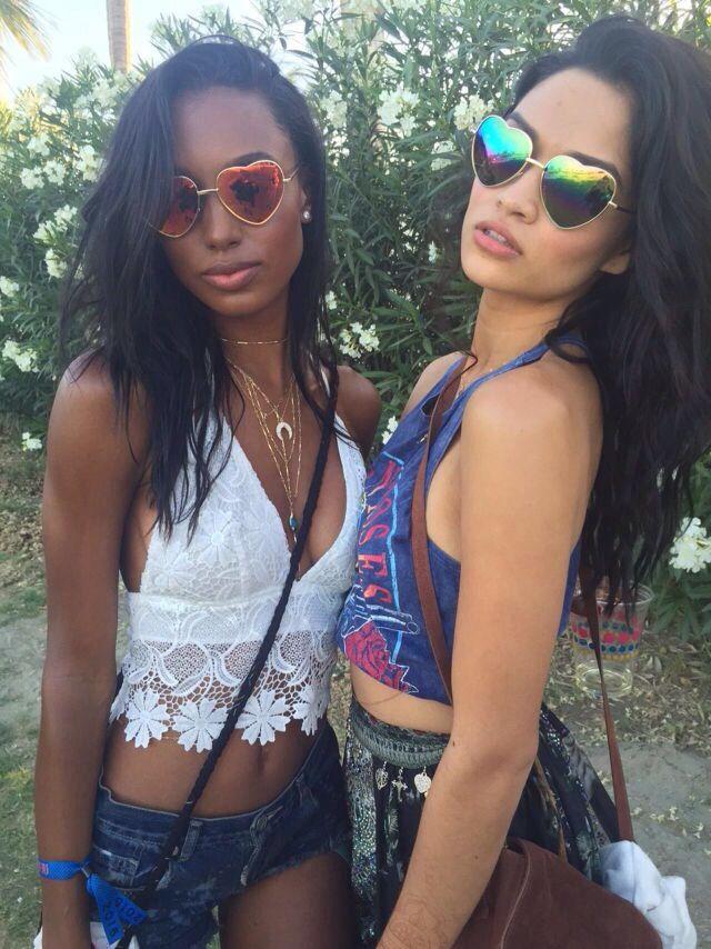 Shanina Shaik & Jasmine Tookes- Coachella 2015