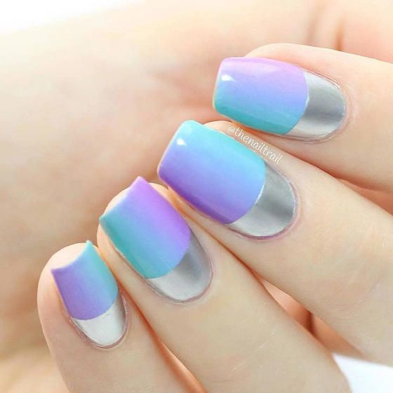16 Super Cool Ombre Gradient Nail Art Tutorials: Amazing Matte And Chrome Nail Art Looks You Have To Try
