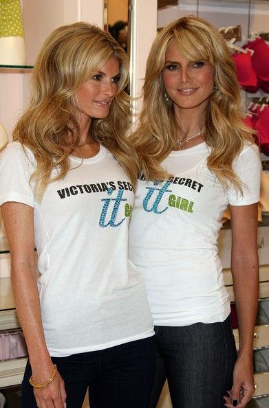 Heidi Klum And Marisa Miller Introduce New Body By Victoria In This Photo: Heidi Klum, Marisa Miller (L-R) Models Marisa Miller and Heidi Klum celebrate the launch of the Body By Victoria full-coverage uplift Bra at Victoria's Secret store The Grove on August 1, 2007 in Los Angeles, California