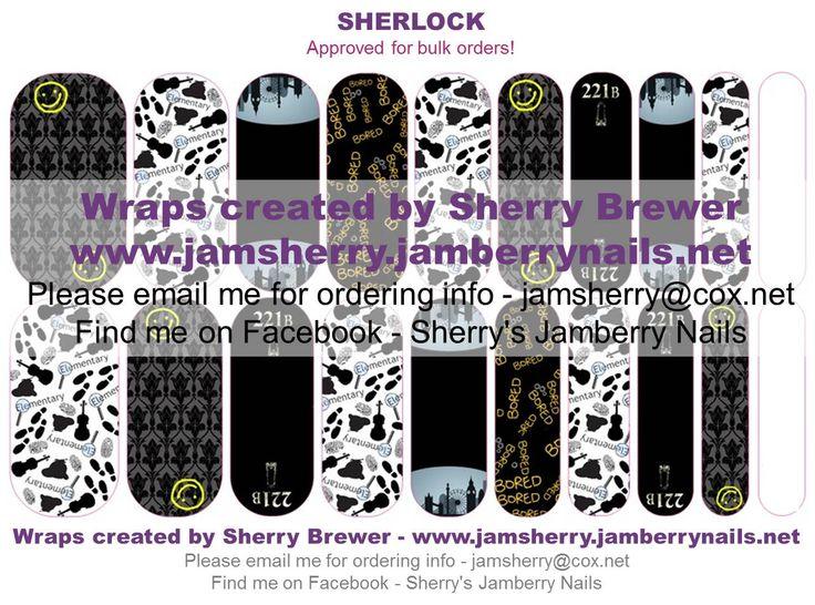Sherlock Holmes - Detective Custom Jamberry Nail Art Design