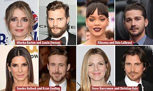 Did they REALLY date? From Jamie Dornan and Mischa Barton to Sandra Bullock and Ryan Gosling, the most surprising celebrity couples revealed From Sandra Bullock's dalliance with Ryan Gosling, who was 16 years her junior, to a one-date disaster between Christian Bale and Drew...Read more: