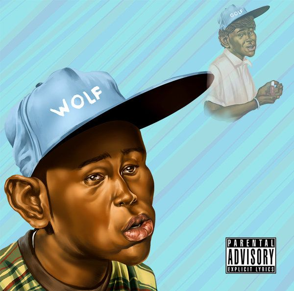 Wolf Tylerthecreator  started from a doodle at work straight to colour no grey-scale starting point with this one was really fun not gonna lie i was feeling pretty nervous using this new method like :O! #tylerthecreator #albumcover #caricature #digitalart #digitalpainting #wolf #digitalartfanart #albumfanart
