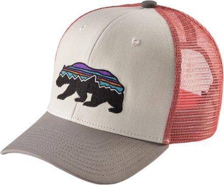 Patagonia Kids' Trucker Hat White/Fitz Roy Bear