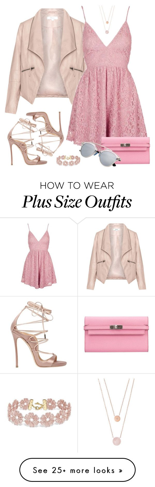 """Untitled #1105"" by k-8314-k on Polyvore featuring Zizzi, Topshop, Dsquared2, Hermès, BaubleBar and Michael Kors"