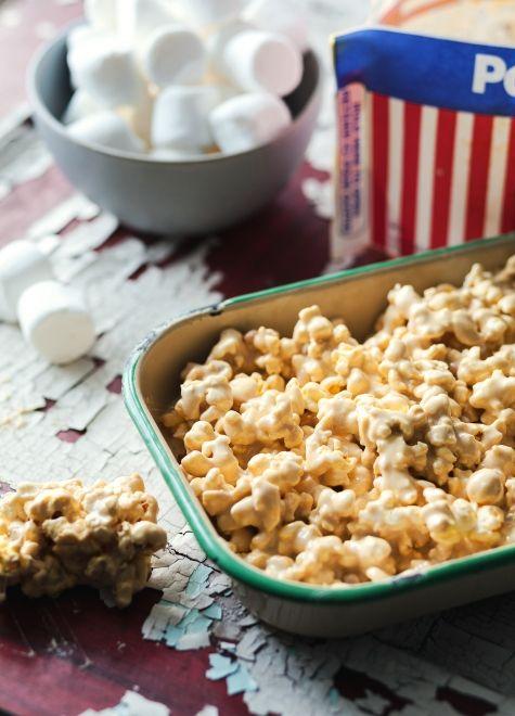 Popcorn à la guimauve façon Rice Krispies™.... pour satisfaire mes envies de popcorn sucré !!!
