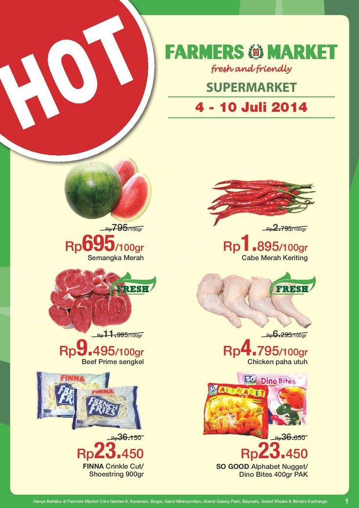 Farmers 99 Market: Promo Hot @farmers99market