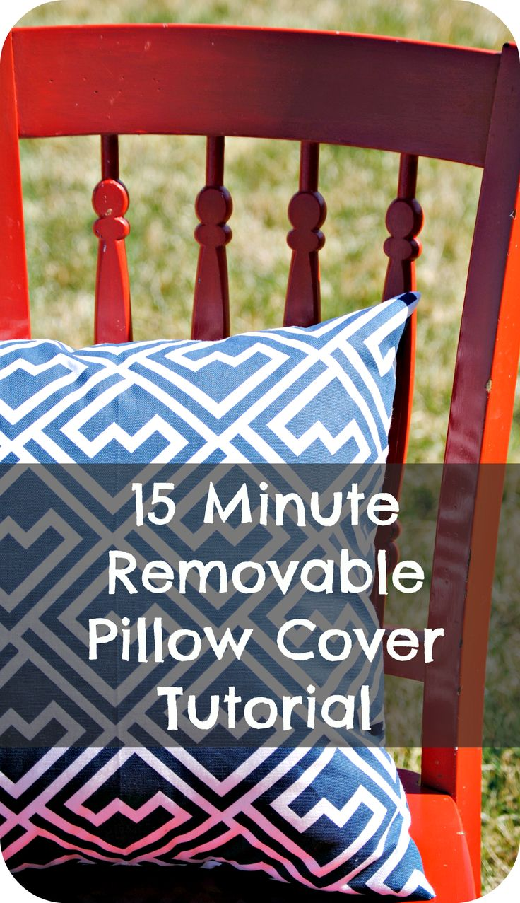 This is a super simple tutorial to make a removable pillow cover in just 15 minutes.