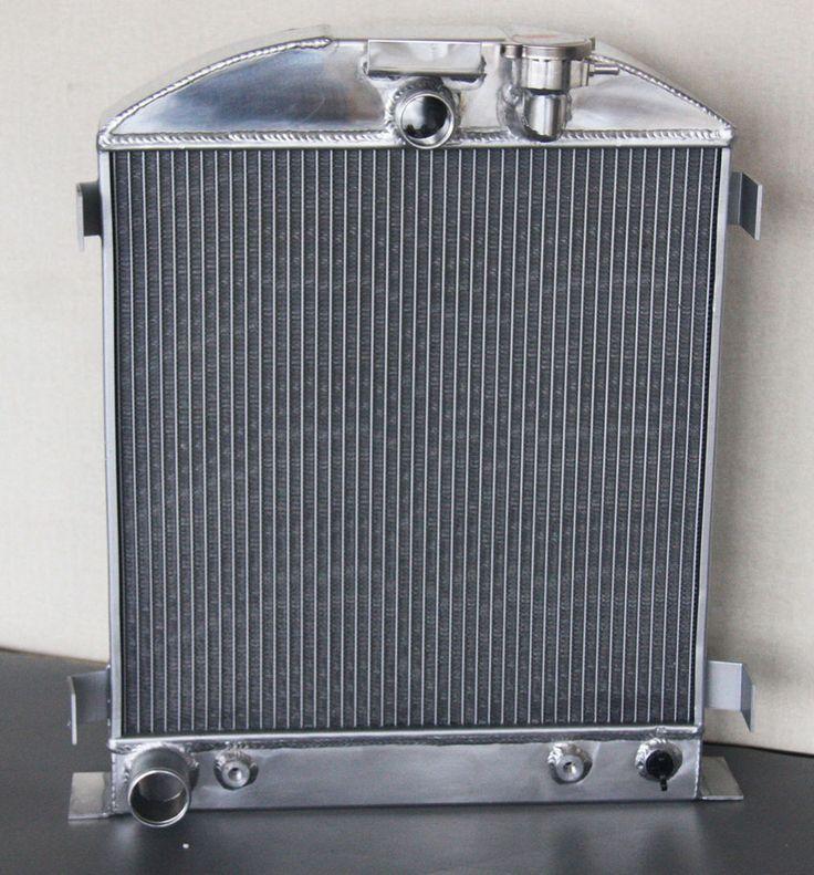 3 ROW FOR FORD ENGINE HI-BOY GRILL SHELL PERFORMANCE 1932 ALUMINUM RADIATOR #UnbrandedGeneric