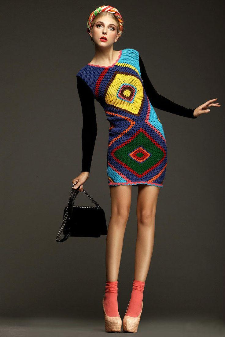 Robe crochetée Chanel