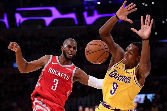 Who Actually Won The Lakers Rockets Brawl Rajon Rondo Or Chris Paul Brandon Ingram Chris Paul Nba News