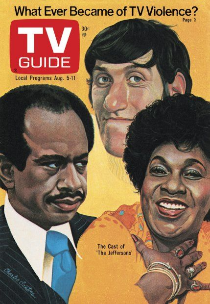 TV Guide August 5, 1978 - Paul Benedict, Sherman Hemsley and Isabel Sanford of The Jeffersons. Illustration by Charles Santore.