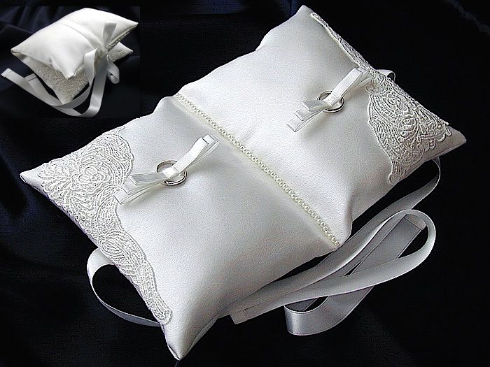 ateliersarah's ring pillow in the shape of a book